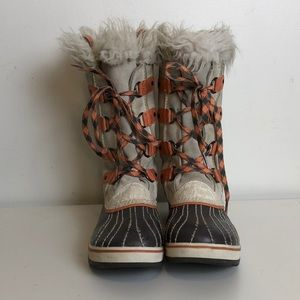 FINAL PRICE Sorel lined fur top youth boots size 4
